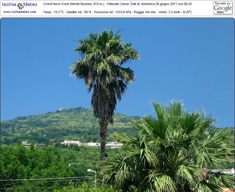 Webcam, Ischia, Monte Epomeo